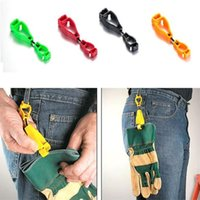 Wholesale New Plastic Glove Clips Protective Holder Safety Glove Clips Work Gloves clips Multi colors Security Accessories A0416