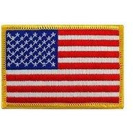 american flag patches - 2 inch D Embroidered Pacthes with magic tape American Flag Outdoor Army Armband patch Sew On Patch spersonality