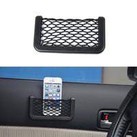 Wholesale Universal Car Seat Side Back Storage Net Black Car Organizer String Bag for Phone Holder Multi Pocket Car Accessories