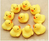 baby rings infant - Voice a yellow rubber duck infant baby bath water pinch rang early childhood educational toys wyh001
