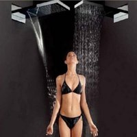 Wholesale And Retail Large quot Square Waterfall Rain Shower Head Wall Mounted Top Shower Sprayer Head