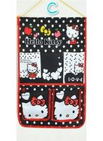 bamboo folding door - Fashion Non woven Fabric Lovely Hello Kitty Storage Bag Door Wall Hanging Pouch Hook Pouch Door Organizer Storage Stuff Bags