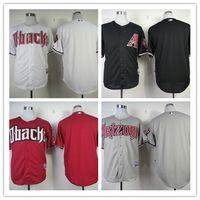 arizona grey - Mix Order Stitched Baseball Jerseys Arizona Diamondbacks Blank red Black Gray White Cheap Home Road MLB Jersey