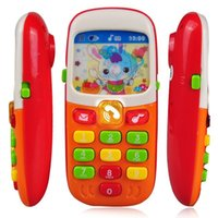 Wholesale Children Kids Electronic Mobile Phone with Sound Smart Phone Toy Cellphone Early Education Toy Infant Toys Random Colors
