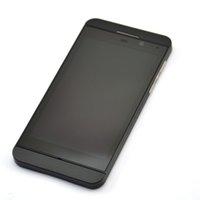 Cadre numériseur lcd France-Livraison gratuite par DHL, Avec la 3G version mi-cadre pour l'écran tactile LCD de remplacement BlackBerry Z10 Assemblée avant Digitizer LCD Panneau de verre