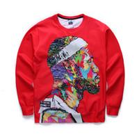 Wholesale Hot D sweatshirt LeBron James tie dye print cool hoodie for men women red sport hoody creative streetwear crewneck tops