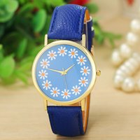 Dress assorted watch batteries - Geneva Print Daisy Flower Watches Women Girl Chrysanthemum Floral Wrist Watch Clock Ladies Assorted Color Wrist Watches Price