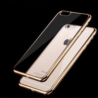 Wholesale Lastest fashion professional smartphone soft TPU electroplate cell cell phone case for iphone plus