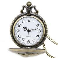 antique engines - Watches Clocks Pocket Fob Watches Antique Train Front Locomotive Engine Necklace Pendant Quartz Pocket Watch P107