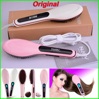 Wholesale Original NASV Beautiful Star Comb Fast Hair Straightener Straight Styling Tool Flat Iron With LCD Electronic Digital Temperature Control