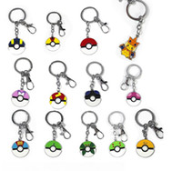 animations electronics - POKE Elf golfers friendship co ball metal key ring Bags auto clasp Pendant cartoon animation around key chains accessories E389