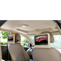 Wholesale Digital Panel inch Portable Car Headrest DVD Player With Stanchion Mounts Game USB SD IR FM Speaker Game