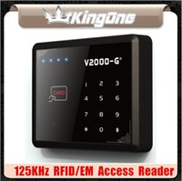 Wholesale New KHz ID EM RFID Touch Screen Keypad Door Access Control Reader Users Standalone Access Control Reader