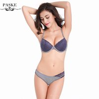 bc printing - Brand Women Bra Set Push Up Noble Embroidery Milk Silk Brassiere Bra and Panties BC Cup Women s Lingerie Set BS306