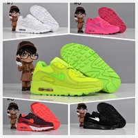 Cheap [with original box] AIR MAX 90 Casual Shoes Children Shoes Kids Sneakers Boy Girl Sports Shoes Running Shoes genuine leather toddler shoes