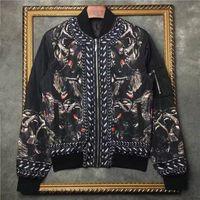 Wholesale 2016 winter Fashion brand men jackets In the monkey printing Long sleeve mens coat blazer uniform men Streetwear outwear