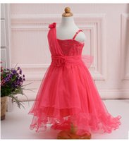 Wholesale New Summer Baby Girls Party Dress Evening Wear Long Tail Girls Clothes Elegant Flower Girl Dress Kids Baby Dresses