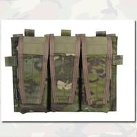 Wholesale Tactical MOLLE Triple Flap Magazine Mag Pouch For AVS Vest Emerson Gear Paintball Equipment MAG Pouch Only For AVS Vest EM9030