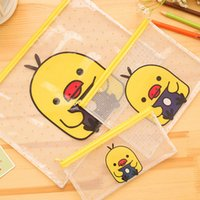Wholesale Cute Yellow duck A4 File Bag Document Bag File Folder Stationery Filing Production School Office Supply Children s pencil case
