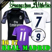 Wholesale 2016 Real Madrid home Away jerseys Real Madrid RONALDO BENZEMA JAMES BALE shirt