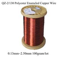 Compra Tamaños de cable de cobre-Al por mayor-0.13mm ~ 2.50 mm muchos tamaño 100gram / rollo de alambre de cobre esmaltado de poliéster magnético Coil Winding QZ-2/130 Imán rojo del alambre Envío gratuito