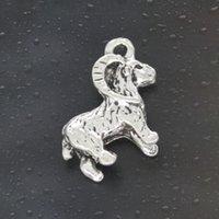 Come on Guys 48pcs chèvre Charms Pandora bijoux en alliage d'argent Antique Fit For Bracelet Collier pendentif ManWoman 23 * 19mm