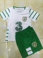 ireland - irish soccer Euro Ireland Kids Boys Youth set Kits Away white Soccer Jerseys Football Shirts Best Quality Jersey