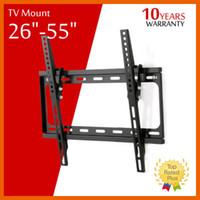 Support TV mural Flat Panel TV fixation fixe HDTV Mont 26 32 39 40 42 50 55 pouces pour écran LCD LED écran