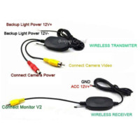 assisted leds - Parking Assist G Wireless Inch TFT LCD Mirror Monitor With Car Rear view camera Reverse LEDs Night Vision Sensor System