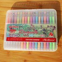 Cheap Newest Secret Garden neon water chalk diamond gel pens Fluorescent glitter and metallic gel pen for secret garden coloring book fine drawing