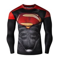 Wholesale Spiderman Super Hero Long Sleeve Shirt Man Absorbent Suit Gym Body Builging Fitness Man Tight Cos play tights