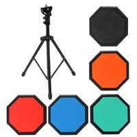 Wholesale inch Silicon Plastic EVA dumb drum Drummer Exercise Training Pad for beginners with Holder Stand Drum Bag Holder Bag
