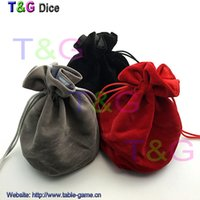 Wholesale TOP Quality Dice bag Jewelry Packing Velvet bag quot Velvet Drawstring bags amp Pouches for gift game for Board Game