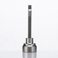 angle cutting machine - Titanium Carb Cap With Three Angled Holes With Threaded Handle For Nails For Water Pipe Smoking Price