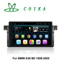 Wholesale Car Radio Bmw E46 Android - 9 Touch Screen Pure Android Car DVD Tape Recorder For BMW E46 M3 318 320 325 GPS Navigation BT Phonebook RDS WIFI 3G OBD DVR Mirror Screen