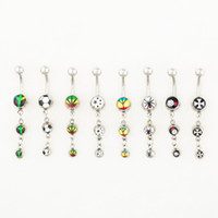 accessories steel logo - 0561 Mix Logos colors styl belly dangle ring style newly nice style Rings Body Piercing Jewelry Dangle Accessories Fashion Charm