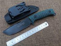 Fixed Blade garden hand tools - Fox FX fixed bladde hunting knife outdoor tactical knife D2 blade utility camping survival knife garden hand tool