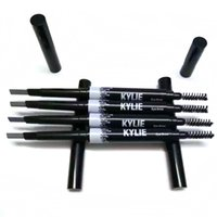 Wholesale New IN1 Kylie Eyebrow Pencil with Tow Head Three Colors Black Light Coffee Deep Coffee box