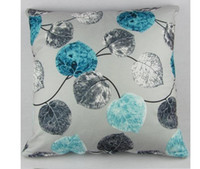 Wholesale High Quality Throw Pillow Case Home Office Sofa Decor Cushion Cover cm cm quot quot Square Grey Blue Leaves PI27 Free P P