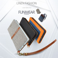 Wholesale For iPhone plus Original KALAIDENG Funwear X Series Linen PU Leather Business Case Wallet Flip Cover For cover apple iphone plus Bag