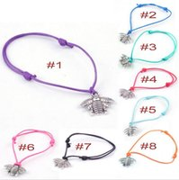anchor pendant jewelry - Bracelets NEW Jewelry Bracelets for women Multicolor metal Insect Pendant Retro rope chain adjustable friendship bracelets anchor charm