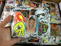 Wholesale 100PCS Random music film Vinyl Skateboard Guitar Travel Case sticker pack decal