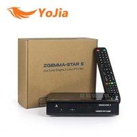 Wholesale 10pcs Genuine Zgemma Star S Satellite Receiver DVB S2 Enigma2 Linux Zgemma star upgraded from cloud ibox2 plus se order lt no