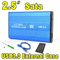 Wholesale 2pcs High Speed USB to SATA quot HDD External Enclosure Hard Disk Drive Case Box for PC Laptop Notebook