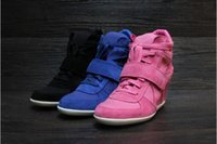 ash bowie pink - 100 Real Photos Brand Orginal Quality ASH Women s Bowie Suede Wedge Trainers High Top Sneakers Increased Lace Up ASH Casual Flat Shoes