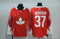 Cheap 37 Bergeron 2016 New Arrivals Mens Team Canada Red Olympics World Cup Hockey Ice NHL Jerseys Free Drop Shipping holypote