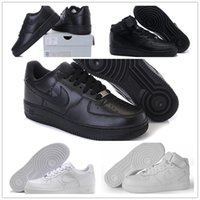 air force canvas - 2016 air high quality force men women Sports sneakers Skateboarding Shoes Classical All White black Force one Running Shoes