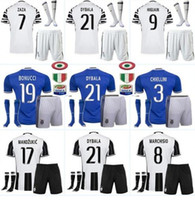Wholesale Lowest AAA quality Juventus jersey home away sets kiT adult Kit socks DYBALA CHIELLINI LUCAS Goalkeeper BUFFON HI