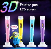 3d printer - New D Printer Drawing Pen with LCD screen Crafting Modeling PLA Filament Arts Printer Tool Gif for children