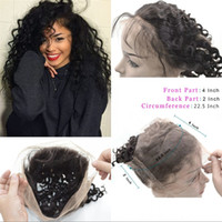Wholesale Indian Human Hair Lace Frontal Deep Wave Curly A Virgin Hair Lace Frontals With Adjustable Straps Bleach Knots